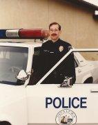 Traffic Officer Gerry Goldshine circa 1985 in his patrol car