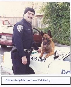 Officer Andy Mazzanti and K-9 Rocky