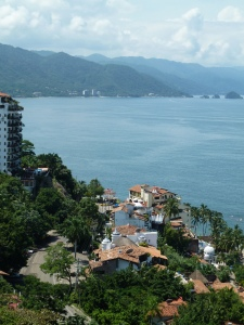 This is the Bay of Banderas looking south. It is in this beautiful area of Mexico that Intent to Hold is set.