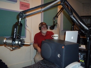 Our host Gil Mansergh at KCRB. He made us feel at ease; a terrific interviewer!