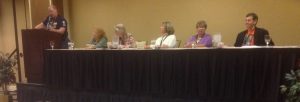 Dialog and setting panel PSWA Conference, Orleans Hotel-Casino, Las Vegas July 2014 photo by Marilyn Meredith