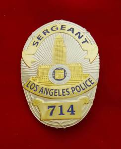 LAPD sgt badge movie prop etsy
