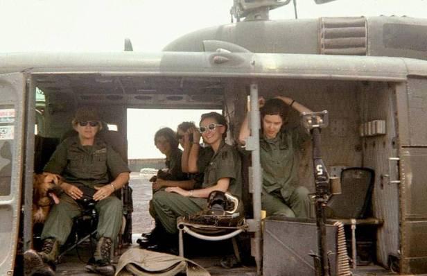 Army nurses in VietNam 1968 Lt Sharon Rex in middle