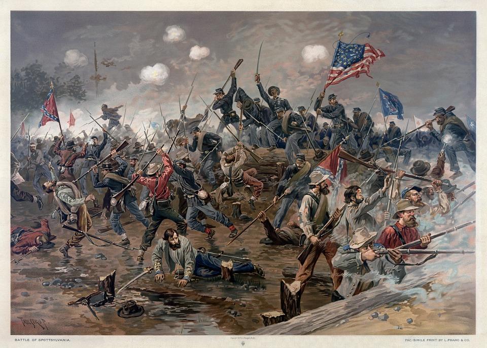 Civil war painting-unknown battle